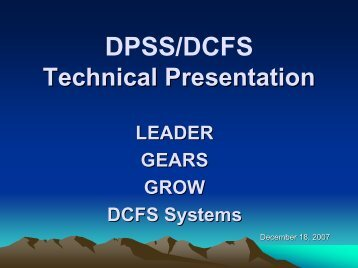 LRS Technical Presentation PowerPoint - Department of Public ...
