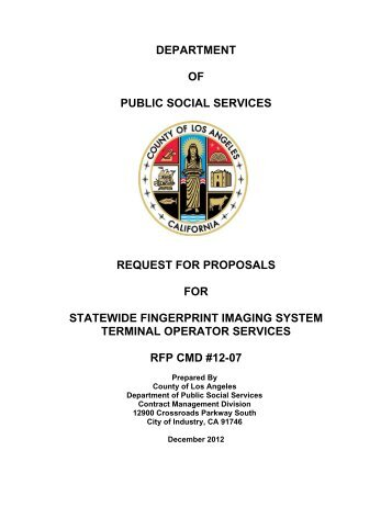 (RFP) - Terminal Operator Services for the Statewide Fingerprint ...
