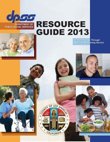 RESOURCE GUIDE 2013 - Department of Public Social Services