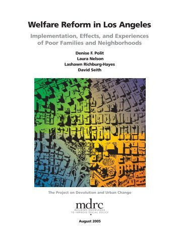 Welfare Reform in Los Angeles Implementation, Effects, and ... - Eric