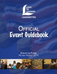 Event Evaluation Forms - Lads to Leaders