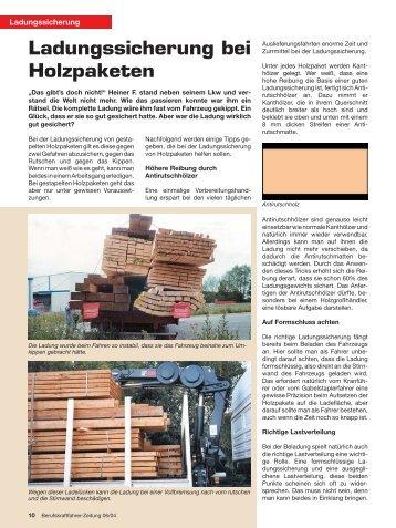 Ladungssicherung bei Holzpaketen - Ladungssicherung.de