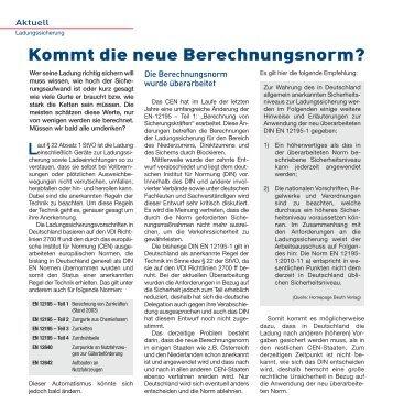 Kommt die neue Berechnungsnorm? - Ladungssicherung.de