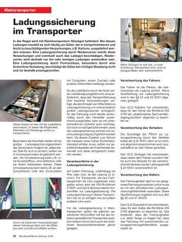 Ladungssicherung im Transporter - Ladungssicherung.de