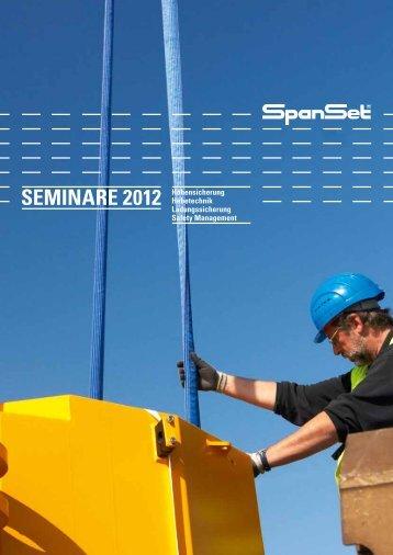 Seminare 2012 Höhensicherung Hebetechnik Ladungssicherung ...