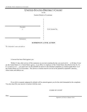 Civil Summons Form Image Of Divorce Forms In Florida Florida