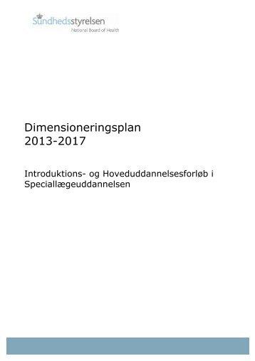 Dimensioneringsplan 2013-2017