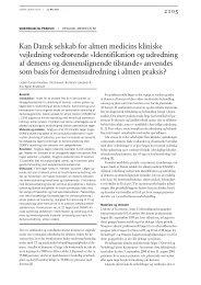 Kan Dansk selskab for almen medicins kliniske ... - Lægeforeningen