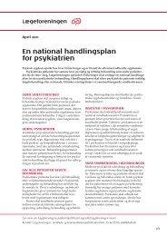 Læs om en national handlingsplan for psykiatrien ... - Lægeforeningen