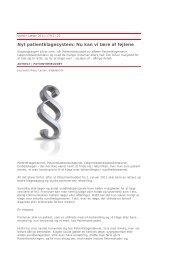 Artikel i Ugeskrift for Læger om det nye ... - Lægeforeningen