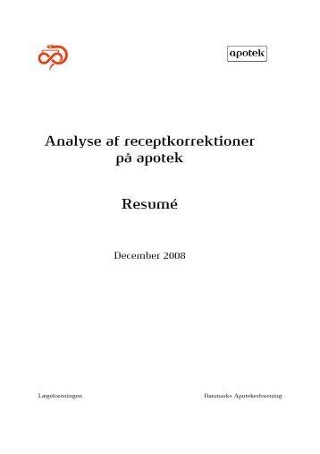 Analyse af receptkorrektioner på apotek Resumé
