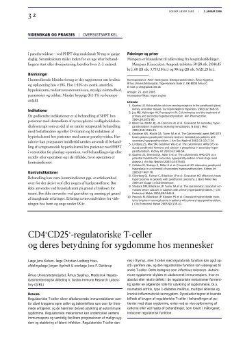 CD4+CD25+-regulatoriske T-celler og deres betydning for ...