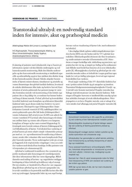 Transtorakal ultralyd: en nødvendig standard ... - Lægeforeningen