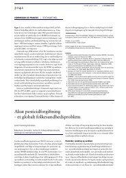 Akut pesticidforgiftning – et globalt folkesundhedsproblem