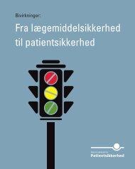 Bivirkninger: Fra lægemiddelsikkerhed til patientsikkerhed