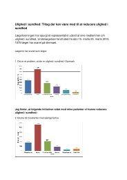 Tiltag der kan være med til at reducere ulighed i ... - Lægeforeningen