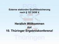 Externe stationäre Qualitätssicherung nach § 137 SGB V