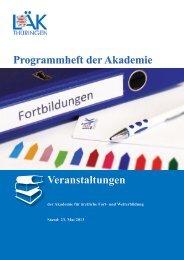 Veranstaltungen Programmheft der Akademie - Landesärztekammer ...