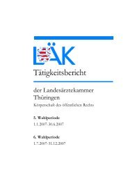 Tätigkeitsbericht 2007.pdf - Landesärztekammer Thüringen