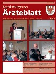 Ausgabe 12/2011 - Landesärztekammer Brandenburg