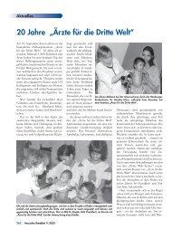"""20 Jahre """"Ärzte für die Dritte Welt"""" - Landesärztekammer Hessen"""