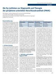 Die S3-Leitlinien zur Diagnostik und Therapie der peripheren ...