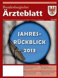 Brandenburgisches Ärzteblatt 12/2013 - Landesärztekammer ...
