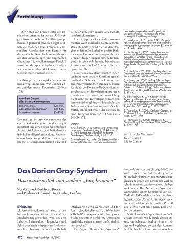Das Dorian Gray-Syndrom