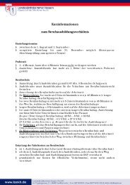 Kurzinformationen zum Berufsausbildungsverhältnis
