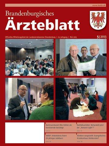 Mai_2013_Aerzteblatt_V1.indd - Landesärztekammer Brandenburg