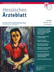 Hessisches Ärzteblatt Oktober 2013 - Landesärztekammer Hessen