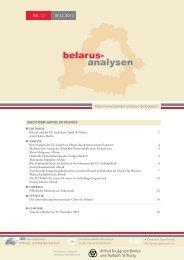 Belarus-Analysen Nr. 15 - Laender-Analysen