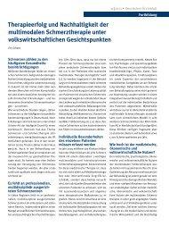 Therapieerfolg und Nachhaltigkeit der multimodalen ...