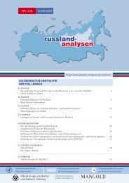 russland- analysen - Laender-Analysen