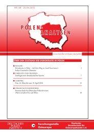 Über den Zustand der demOkratie in POlen - Laender-Analysen
