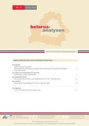belarus- analysen - Laender-Analysen