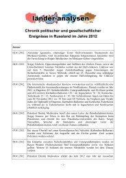 Für die PDF-Version bitte hier klicken - Laender-Analysen