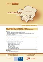 zentralasien- analysen - Laender-Analysen