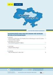 ukraine- analysen - Laender-Analysen