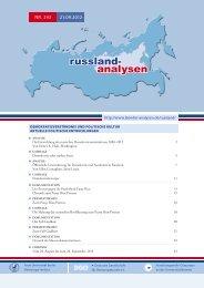 Russland-Analyse Nr. 243 - Laender-Analysen