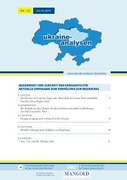 Ukraine-Analysen Nr. 122 - Länderanalysen der Forschungsstelle ...