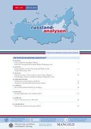 253 - Länderanalysen der Forschungsstelle Osteuropa