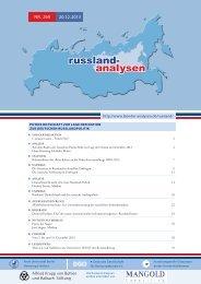 Russland-Analysen Nr. 269 (20.12.2013) - Laender-Analysen