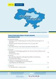 ukraine- analysen - Länderanalysen der Forschungsstelle Osteuropa