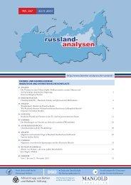 267 - Länderanalysen der Forschungsstelle Osteuropa