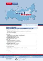Russland-Analyse Nr. 250 - Laender-Analysen