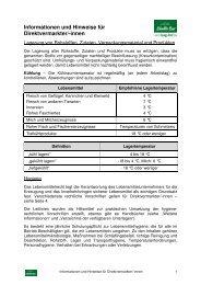 Informationen und Hinweise für Direktvermarkter/-innen