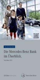 Die Mercedes-Benz Bank im Überblick. - Daimler