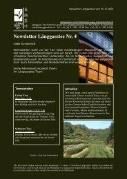 Newsletter Nr. 4 vom 05. Dezember 2009 - Länggass-Tee
