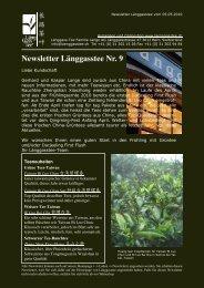 Newsletter Nr. 9 vom 05. Mai 2010 - Länggass-Tee